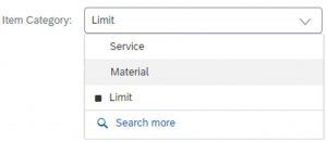 SAP Ariba P2P item category B limit