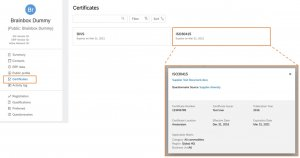 SAP Ariba Managing supplier certificates